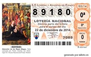 Loteria de Navidad Solidaria 2014