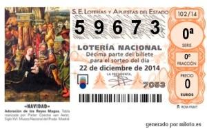 Lotería Solidaria de Navidad 2014